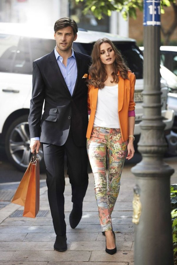 Olivia Palermo orange blazer