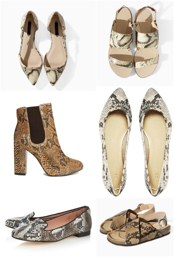 snake print shoes