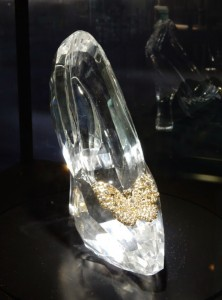 Cinderella glass slipper prop